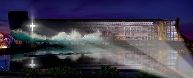 Ark Encounter with Projected Image
