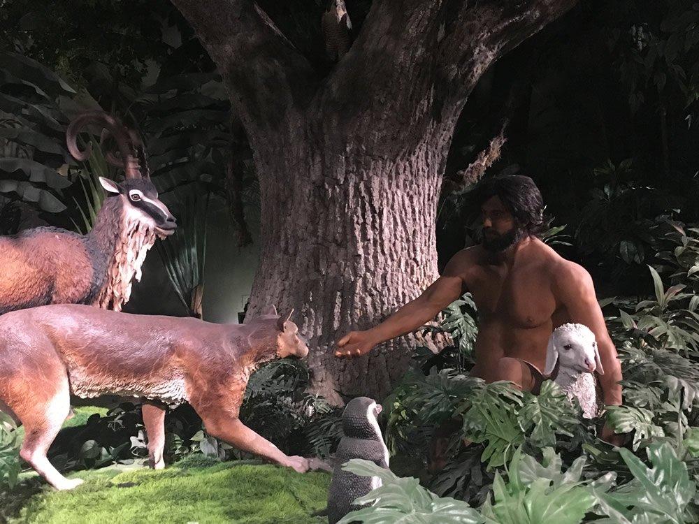 Adam in Garden of Eden