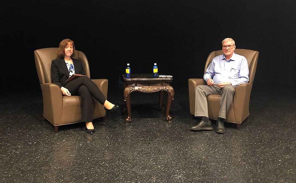 Dr. Georgia Purdom and Ken Ham at UCO