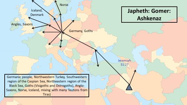 Migration: Ashkenaz son of Gomer