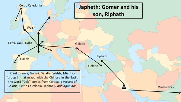 Migration: Gomer and his son Riphath