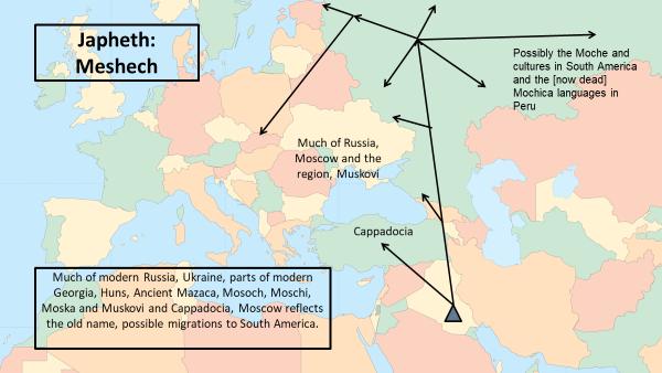 Migration: Meshech Descendants