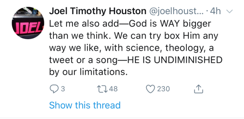 Tweet by Joel Houston