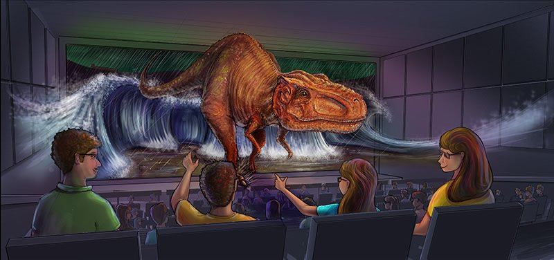 Artist depictions of Creation Museum 4D theater.