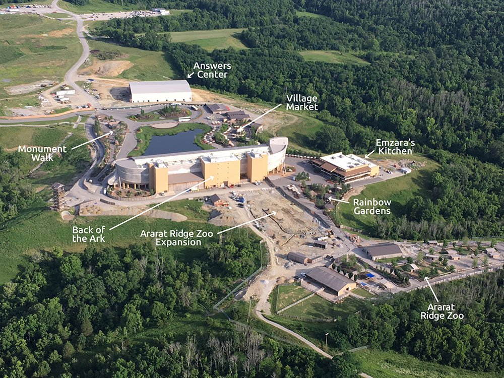 Drone Photo of Ark Encounter Updates