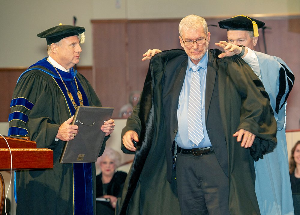Ken Ham receiving his honorary degree