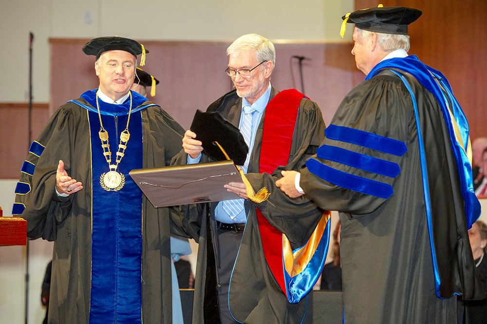 Ken Ham receiving his honorary degree