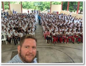 Joe Owen with Students