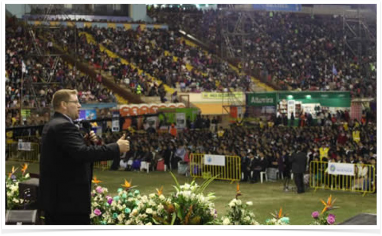 Joe Owen Speaks in a Stadium