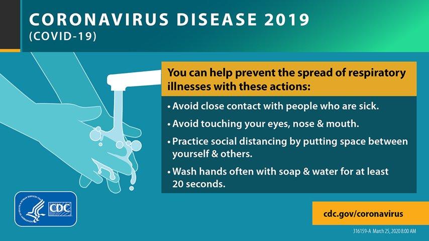CDC Coronavirus Tips