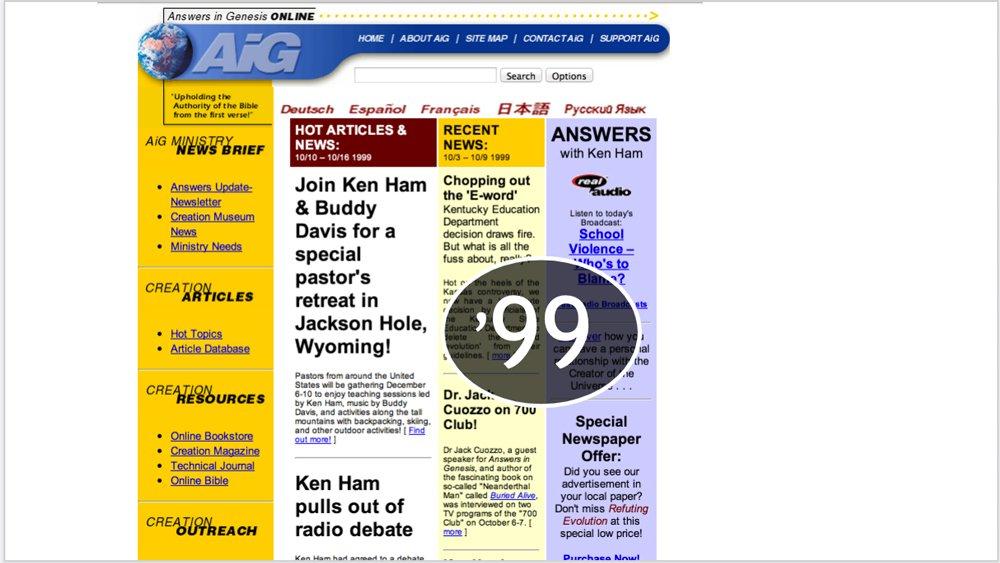 AnswersinGenesis.org 1999