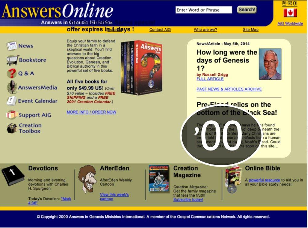 AnswersinGenesis.org 2000