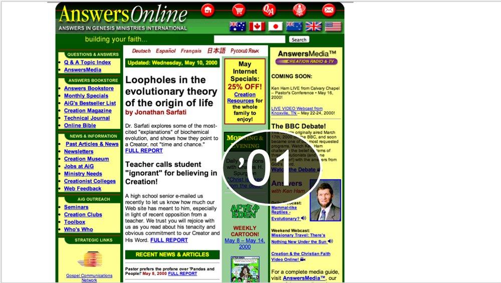 AnswersinGenesis.org 2001