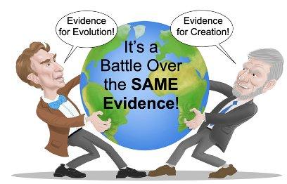 Illustration of Ken Ham and Bill Nye