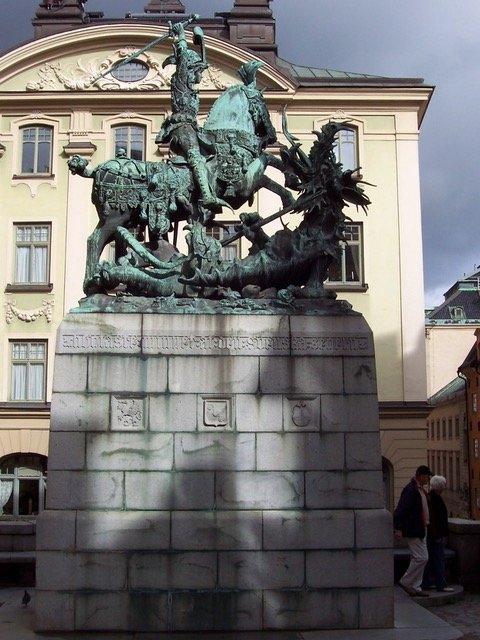 Statue of St. George Slaying the Dragon