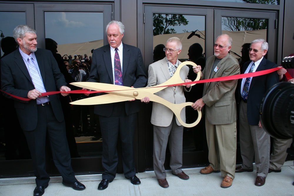 Cutting the ribbon at the Creation Museum