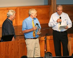 Ken Ham receives the Integrity Award