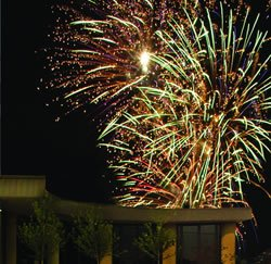 Fireworks at the Creation Museum