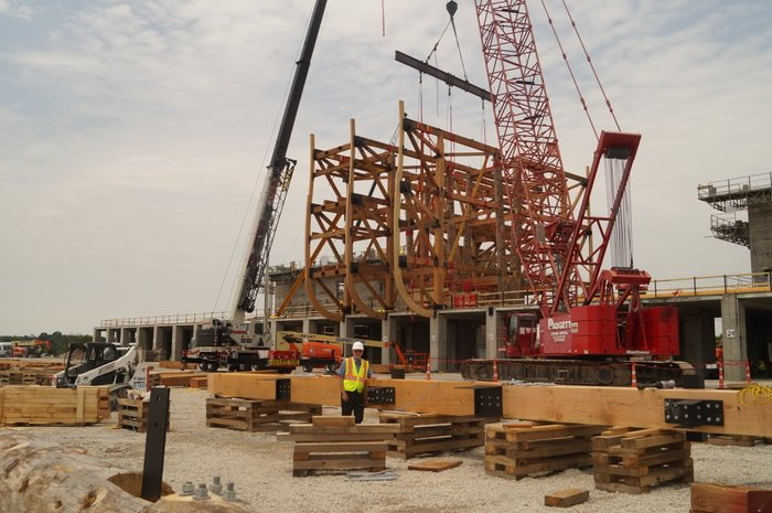 Wooden Beams for the Ark Encounter