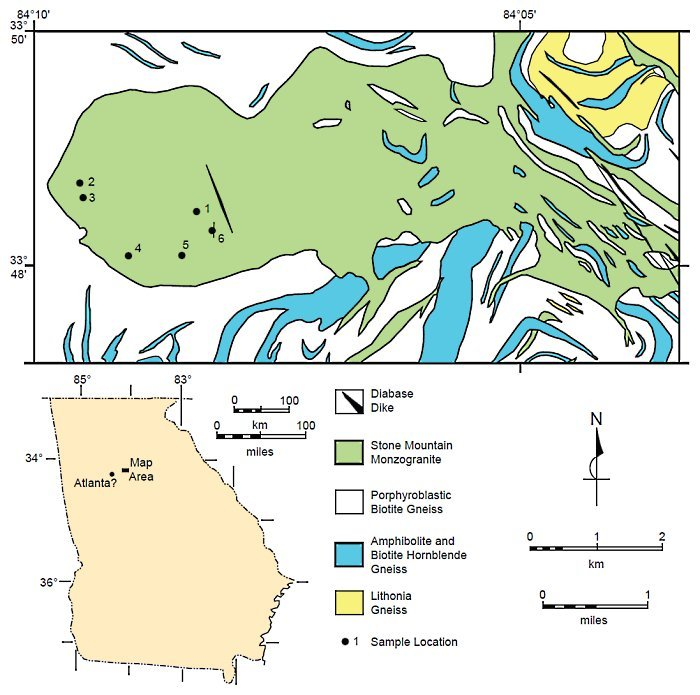 Stone Mountain Geological Map