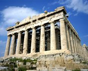 Greece's Parthenon, near the 2004 Summer Olympics