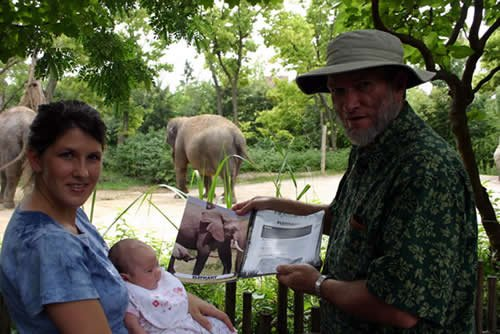 Ken Ham with daughter, granddaughter and Zoo Guide at a local zoo