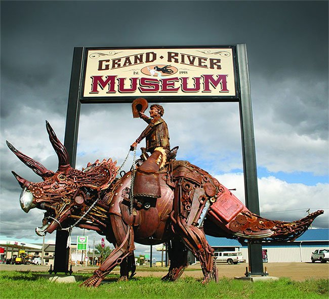 Cowboy Riding Dinosaur