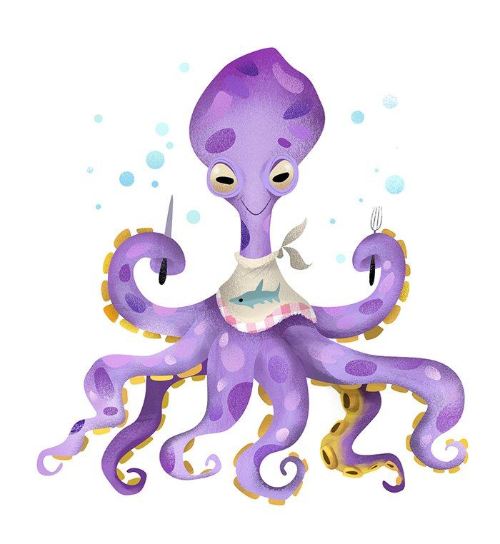 Octopus Eating