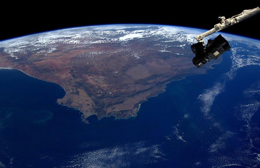 Southern tip of Africa, including False Bay.