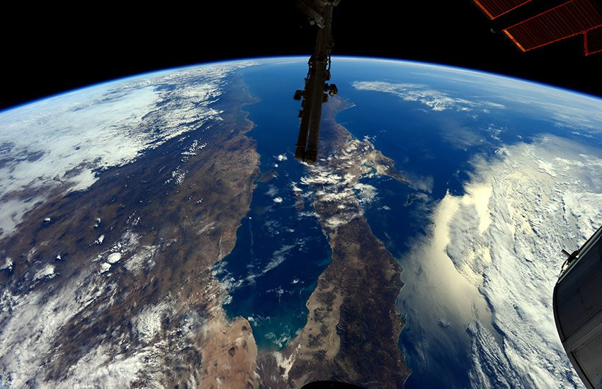 Baja, California (The camera is facing south.)