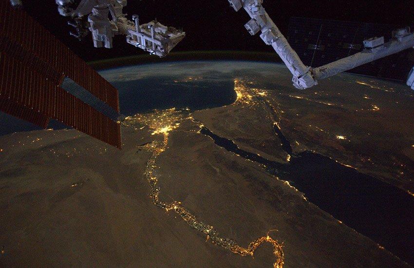 The Nile River and Sinai Peninsula.