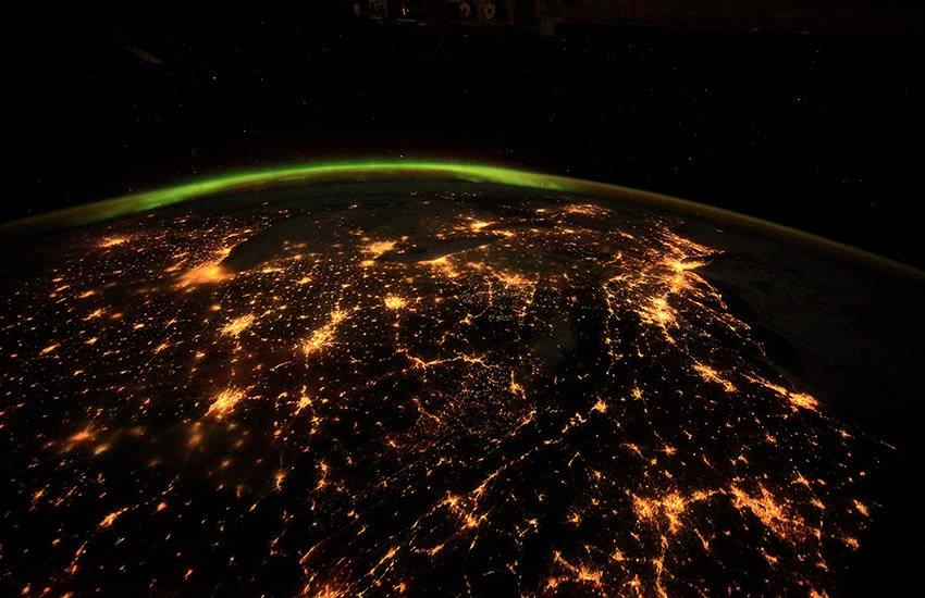 United States at night.