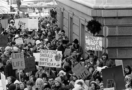 Roe v. Wade protest