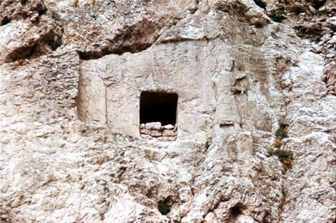 Hand-hewn cave
