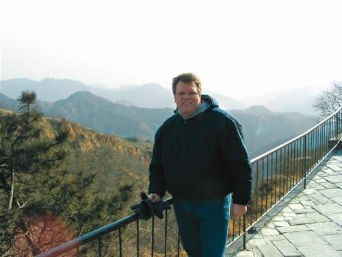 Dale Mason at the Great Wall of China