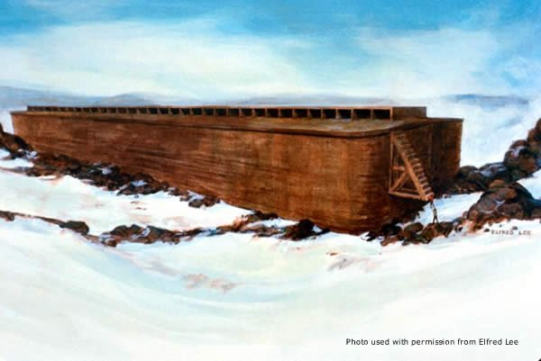 Painting of Noah's Ark by Elfred Lee