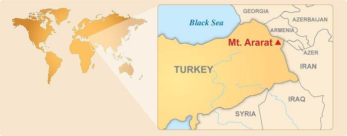 Location of Mount Ararat