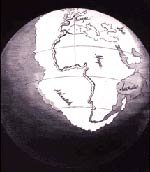 The formerly joined continents before their separation