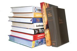 Bible and textbooks