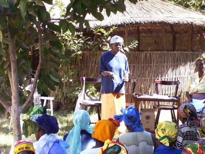 Woman teaching Genesis