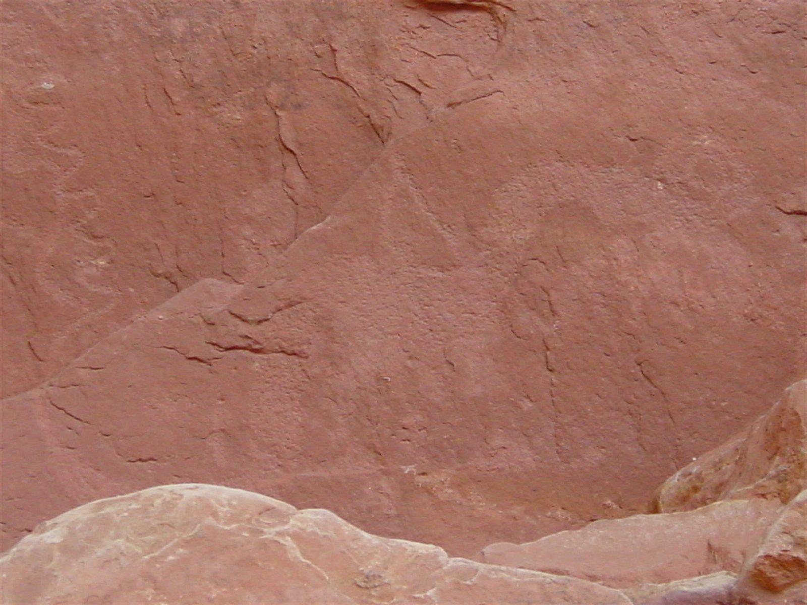Close up of petroglyph