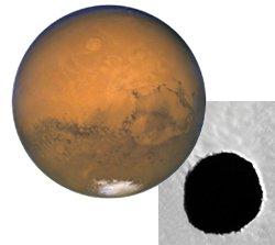 Dark Spot on Mars