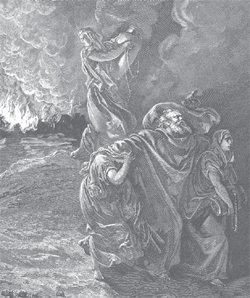Lot Fleeing Sodom and Gomorrah
