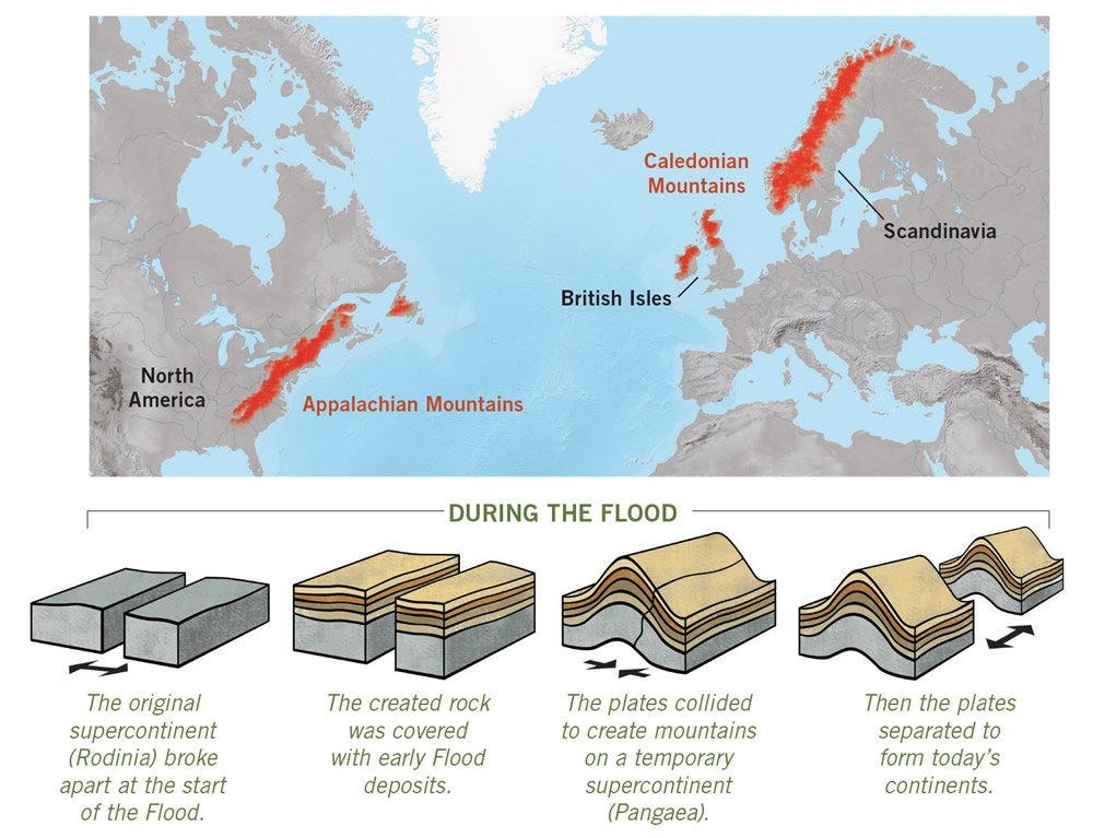 Continents During the Flood
