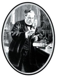 Louis Pasteur in the lab