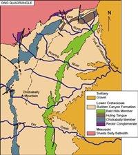 Geologic map of the Ono Quadrangle
