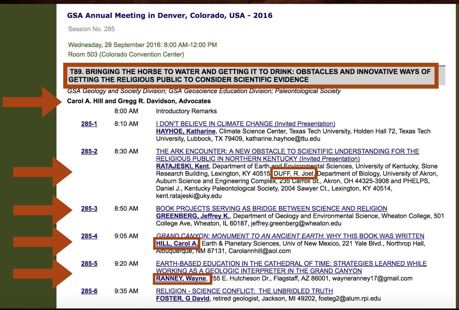 Geological Society of America 2016 annual meeting