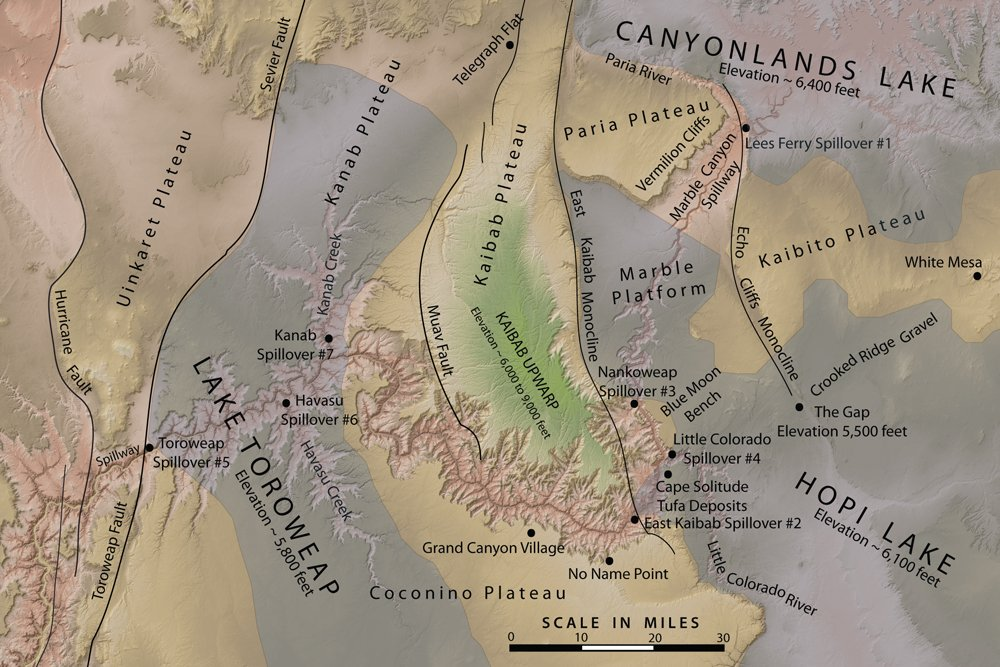 Eastern Grand Canyon Location Map