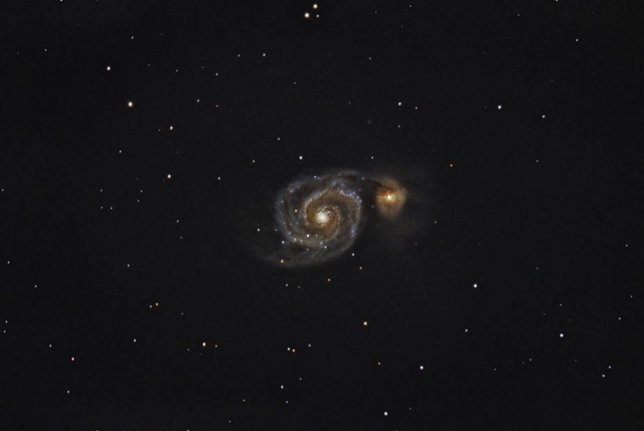 M51. The Whirlpool Galaxy.