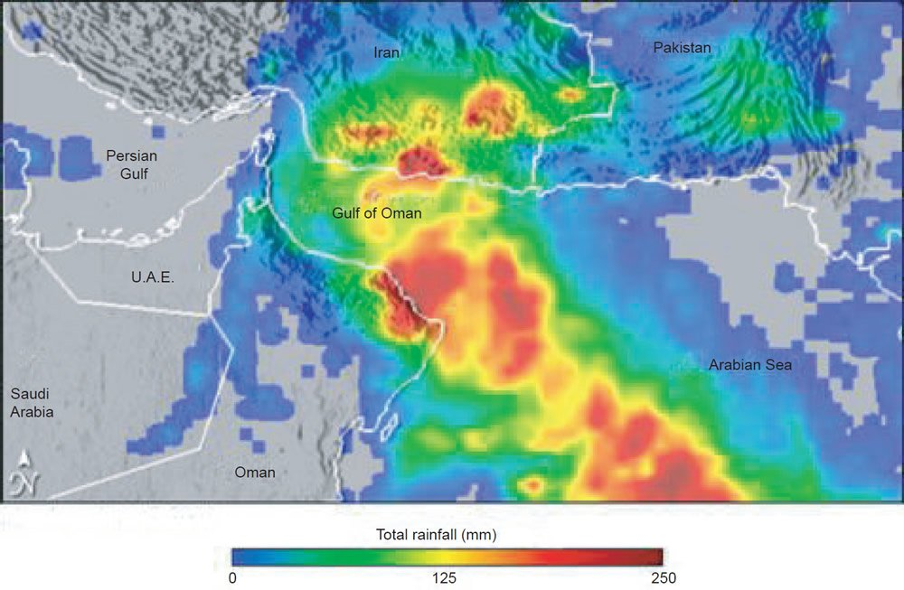 Accumulated precipitation from Tropical Cyclone